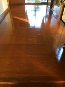 住宅無垢床塗装